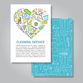 Plantilla de servicio de limpieza