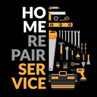 Plantilla de servicio de reparación de viviendas.