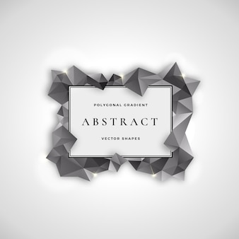 Plantilla de signo, símbolo o logotipo de marco poligonal abstracto.