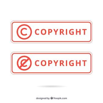 Plantilla de símbolo de copyright moderno