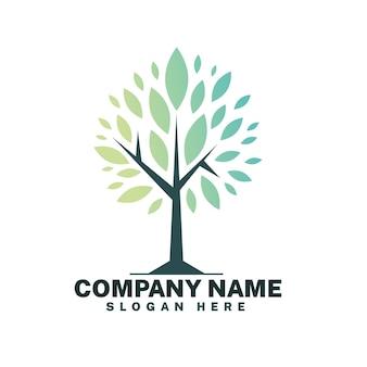 Plantilla de símbolo de logotipo de árbol de vida minimalista