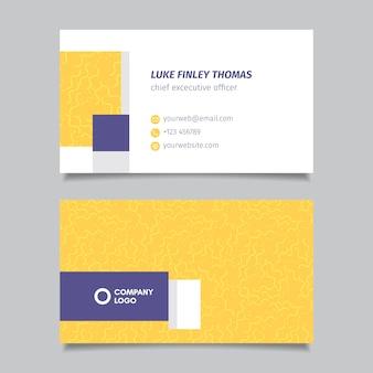 Plantilla simple para tarjeta de visita