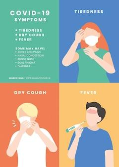 Plantilla de síntomas de covid-19