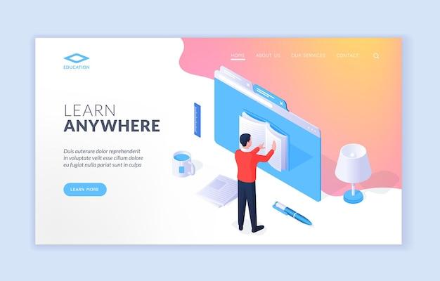 Plantilla de sitio web para aprender en cualquier lugar