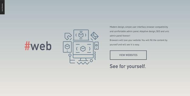 Plantilla de sitio web de bloque de diseño web