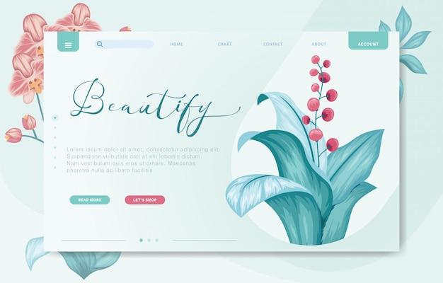 Plantilla de sitio web de marca de diseño moderno