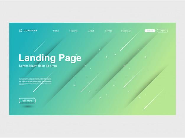 Plantilla de sitio web moderna moda color gradación