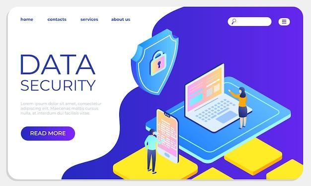 Plantilla de sitio web de protección de datos y confidencialidad