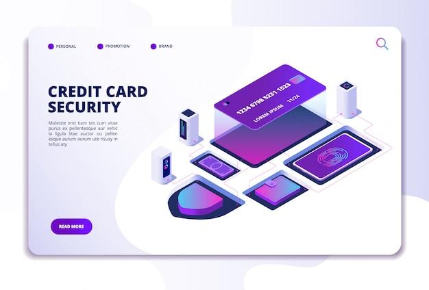 Plantilla de sitio web de seguridad de tarjeta de crédito