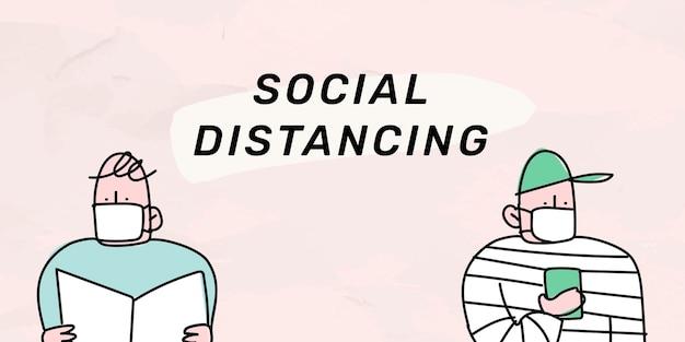 Plantilla social de la pandemia de coronavirus de distanciamiento social