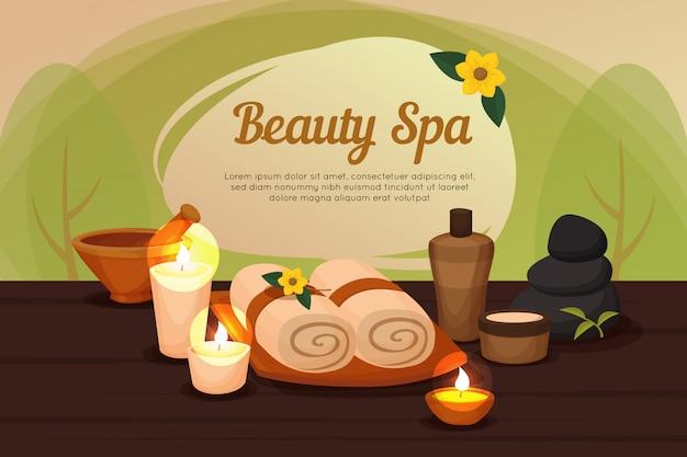 Plantilla de spa de belleza