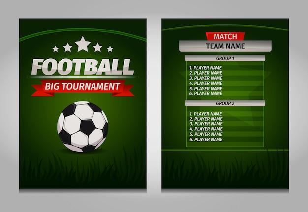 Plantilla de tabla de marcador final de campeones de fútbol soccer