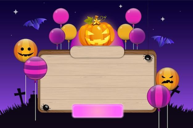 Plantilla de tablero de invitación de fiesta de noche de halloween