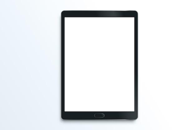 Plantilla de tableta vectorial realista aislada o maqueta de almohadilla de dibujo