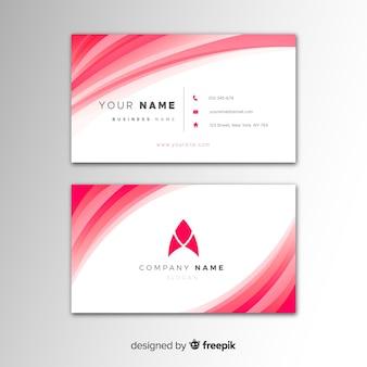 Plantilla de tarjeta abstracta de visita