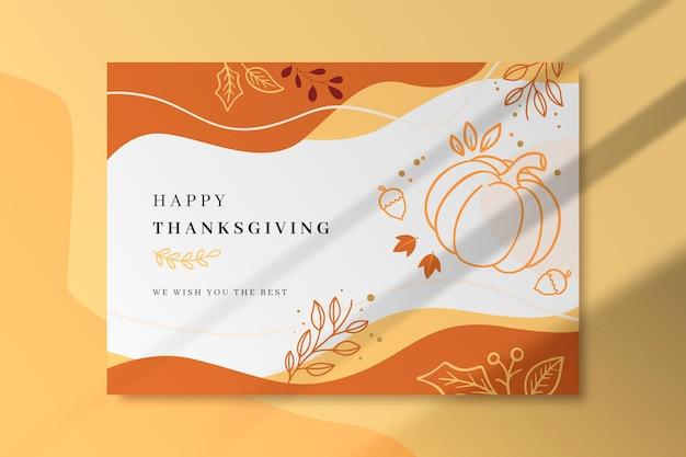 Plantilla de tarjeta de acción de gracias