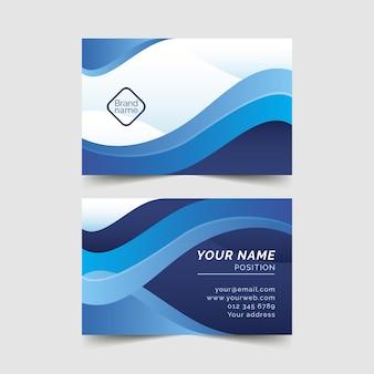 Plantilla de tarjeta azul