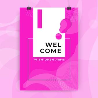 Plantilla de tarjeta de bienvenida