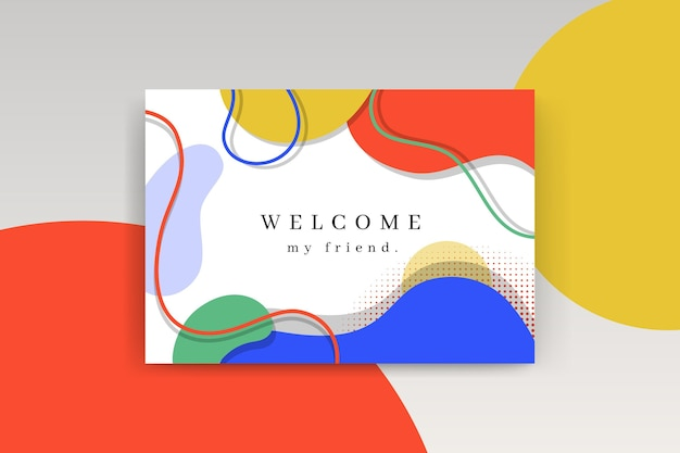 Plantilla de tarjeta de bienvenida vector gratuito