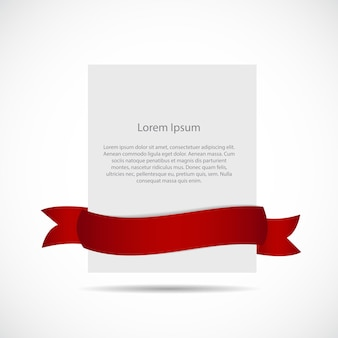 Plantilla de tarjeta en blanco blanco con cinta. ilustración de vector. eps10