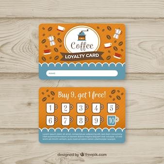 Plantilla de tarjeta de cliente de cafetería con estilo elegante