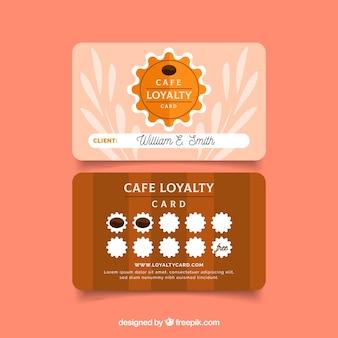 Plantilla de tarjeta de cliente de cafetería con estilo moderno