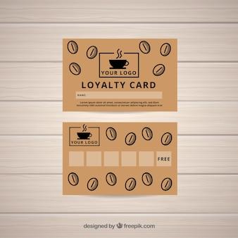 Plantilla de tarjeta de cliente de cafetería
