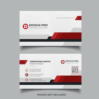 Plantilla de tarjeta corporativa elegante roja