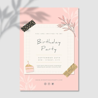 Plantilla de tarjeta de cumpleaños