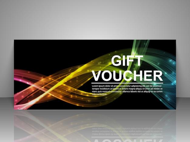 Plantilla de tarjeta de cupón de regalo promocional