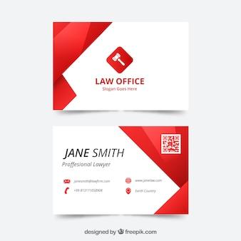 Plantilla tarjeta de abogado