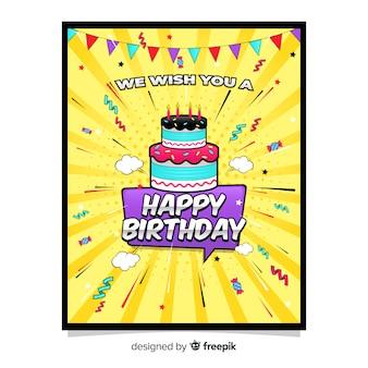 Plantilla de tarjeta e cumpleaños