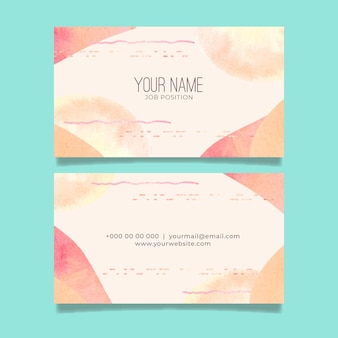 Plantilla de tarjeta de empresa abstracta con elementos pintados a mano