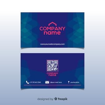 Plantilla de tarjeta de empresa corporativa, diseño frontal y trasero