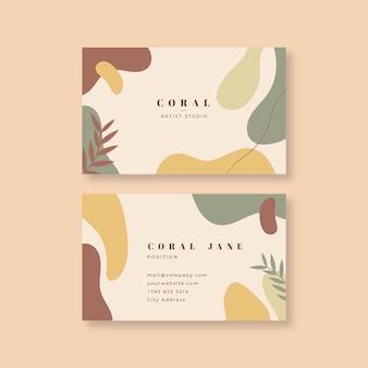Plantilla de tarjeta de empresa en estilo abstracto pintado