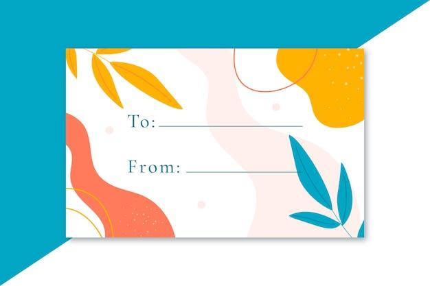 Plantilla de tarjeta de etiqueta de formato de regalo