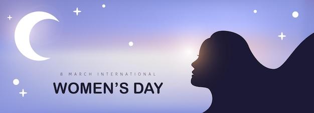 Plantilla de tarjeta de felicitación del día internacional de la mujer.