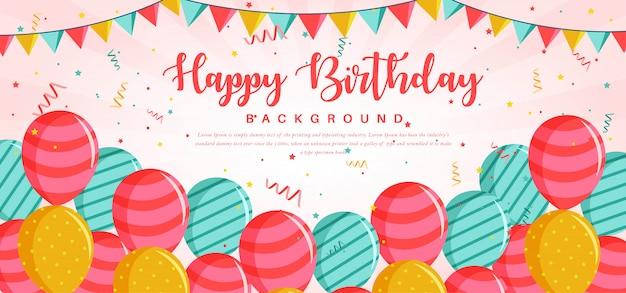 Plantilla de tarjeta de felicitación de feliz cumpleaños