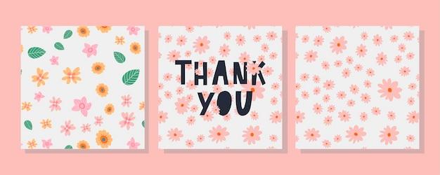 Una plantilla de tarjeta de felicitación con letra de decoración floral.