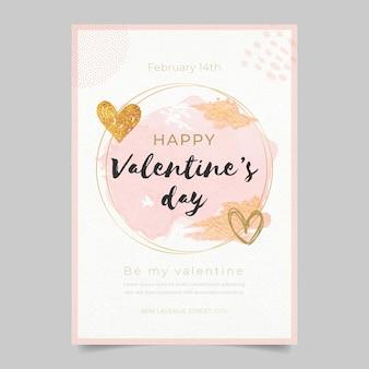 Plantilla de tarjeta de felicitación de san valentín