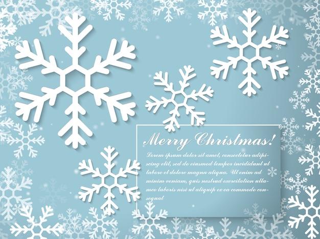 Plantilla de tarjeta de felicitación tipográfica de navidad y año nuevo