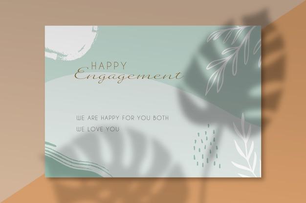Plantilla de tarjeta de feliz compromiso