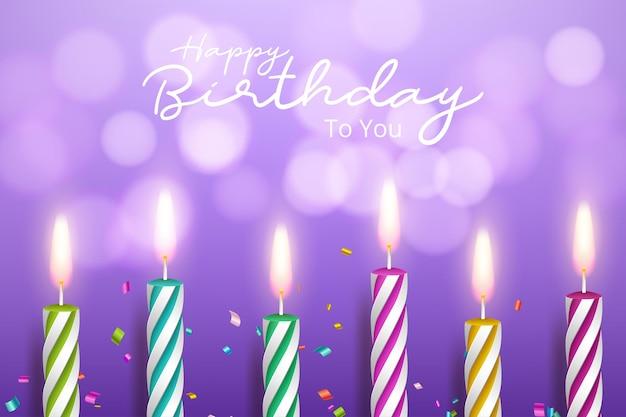 Plantilla para tarjeta de feliz cumpleaños con lugar para texto