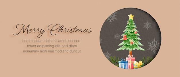 Plantilla de tarjeta de feliz navidad