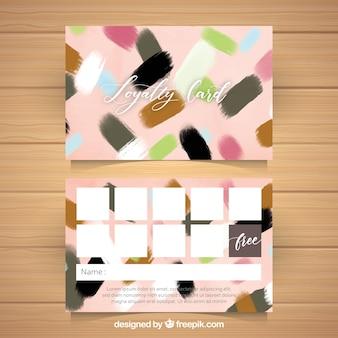 Plantilla de tarjeta de fidelidad en acuarela con estilo colorido