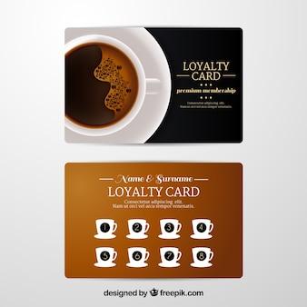 Plantilla de tarjeta de fidelización de café