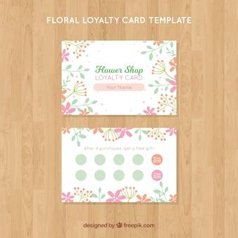 Plantilla de tarjeta floral de fidelidad