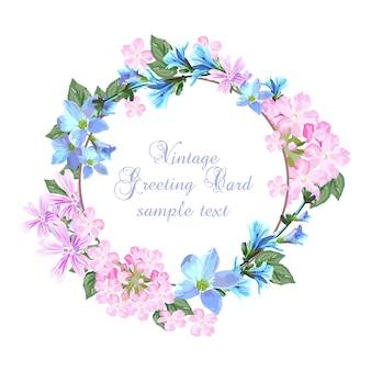 Plantilla de tarjeta floral