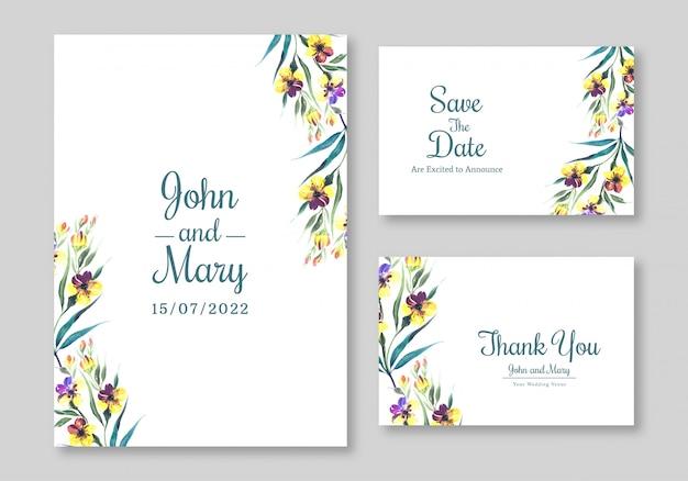 Plantilla de tarjeta de flores hermosas