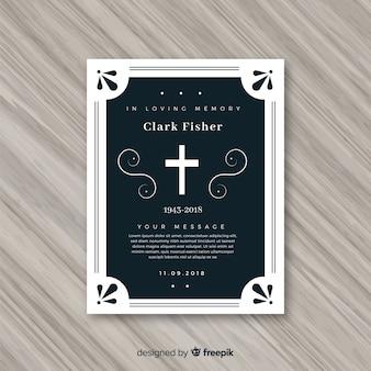 Plantilla para tarjeta fúnebre